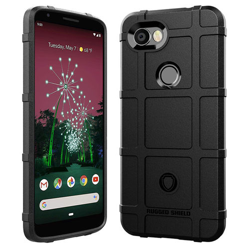Anti-Shock Grid Texture Shockproof Case for Google Pixel 3a - Black